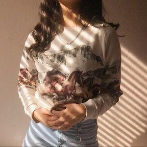 ☆ vtg crewneck sweater ☆
